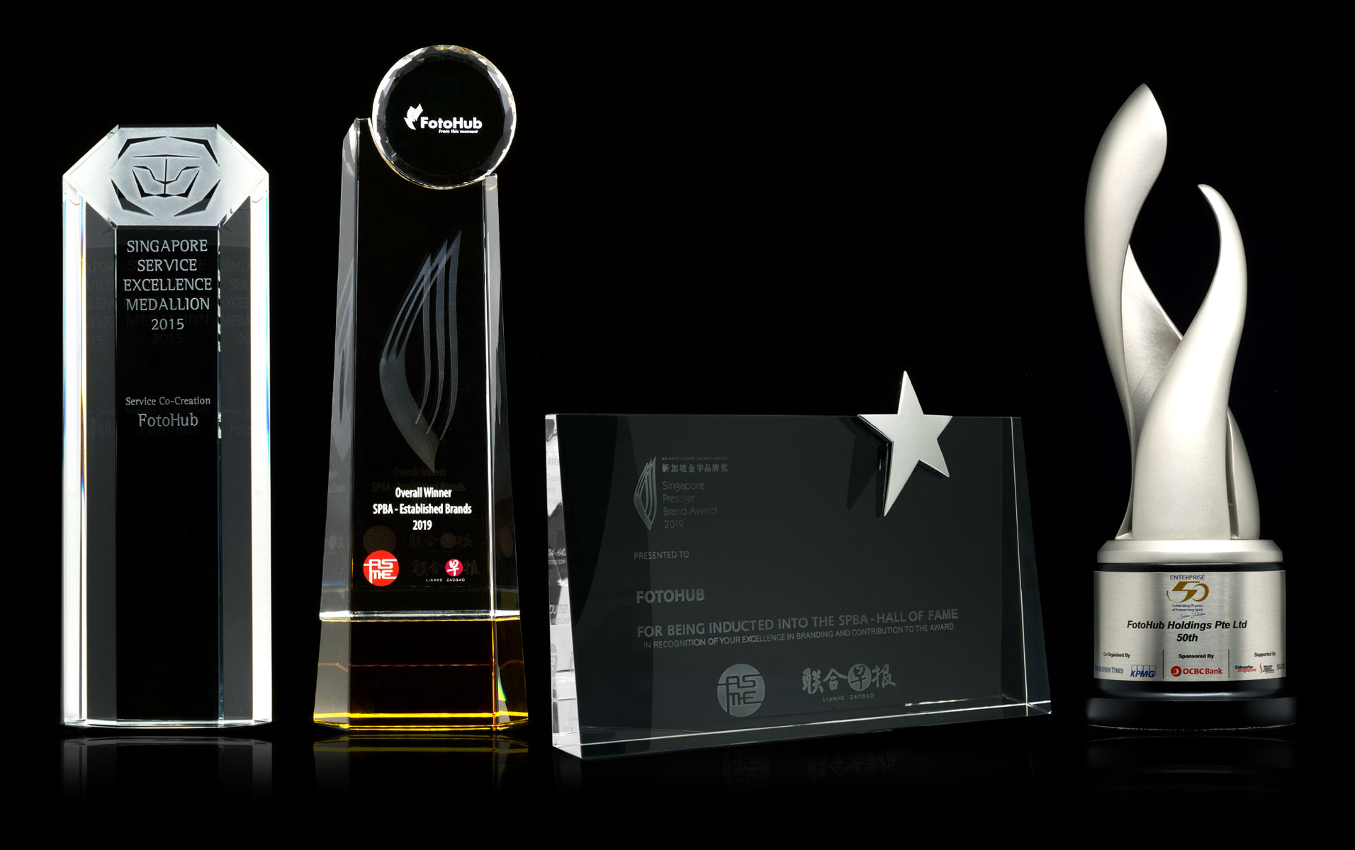 Singapore Prestige Brand Award Winner Thropy